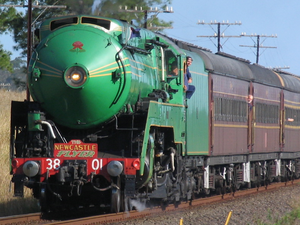 3801 with Newcastle Flyer