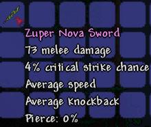 Zuper nova sword
