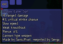 Crappy eater spit (base stats)