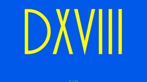Numbers 1-1000 (Roman Numerals)