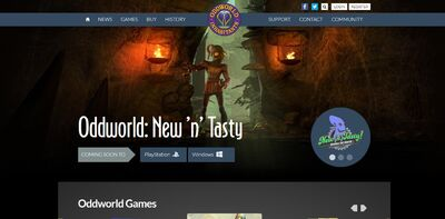 New Oddworld Website 2013