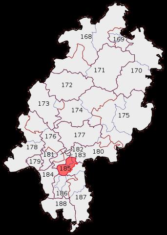 Datei:Wahlkreis 185 der Wahl zum 17. deutschen Bundestag 2009.png