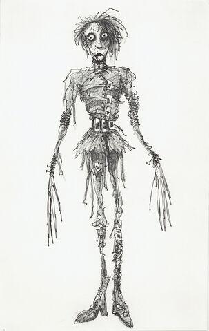 File:Tim Burton Edward Scissorhands Art.jpg