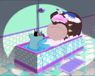 Oggy bathing with Bob