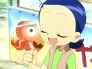 Aiko with Takoyaki