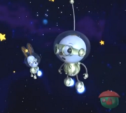 Space boy and space dog