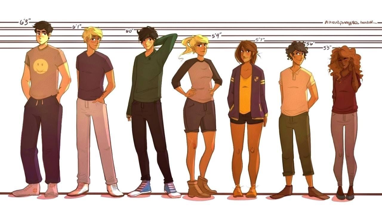 The Seven Demigods In High School ::