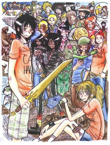 File:Percy Jackson and Company by ichigoxringo.jpg
