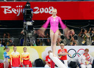 Nastia Liukin on the balance beam