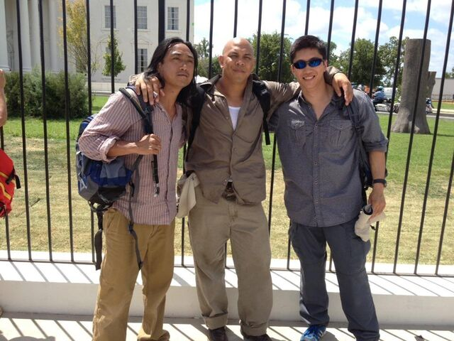 File:OHF- Unknown, Brett Chan (middle) and other unknown bomber set pic.jpg