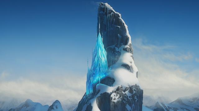 Image la reine des neiges une f te givr e montagne du - Palais de glace reine des neiges ...