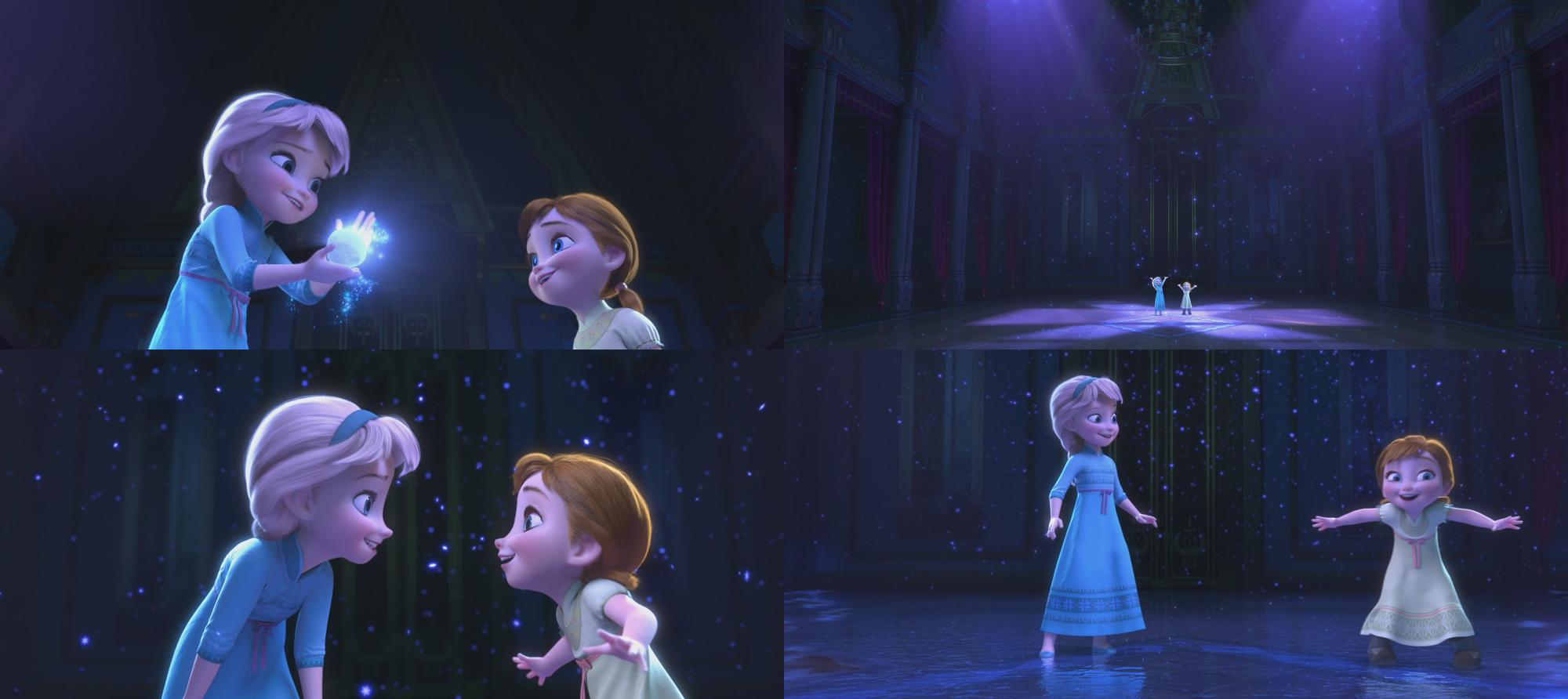 Image la reine des neiges disney elsa anna enfant salle de bal neige d 39 artifice glace - Anna elsa reine des neiges ...
