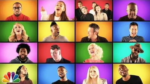 "Jimmy Fallon, The Roots, and Music Superstars Sing ""We Are The Champions"" (A Cappella)"