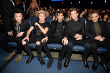 One Direction sitting in the Audience at the AMAS