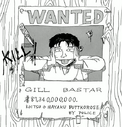 Gill Bastar's Wanted Poster