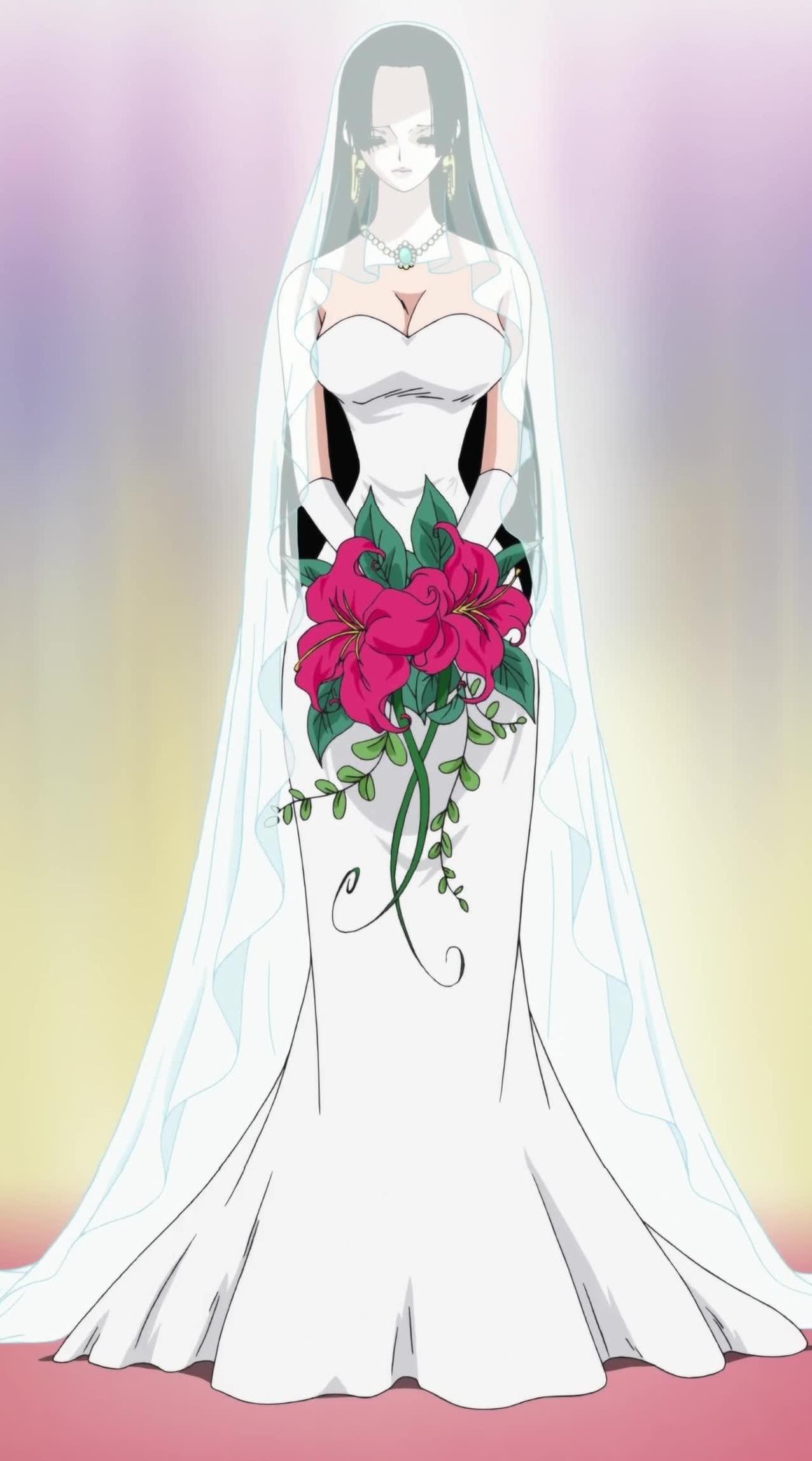 Boa Hancock rªvant d ªtre la mariée de Luffy