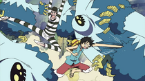 Bon Kurei and Luffy Team Up