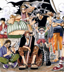 Luffy and Red Hair Pirates