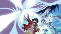 Luffy Attacks Caesar
