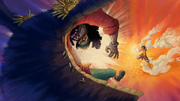 Luffy Uses Jet Pistol on Blackbeard.png