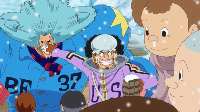 File:Franky and the Children at Punk Hazard Party.png