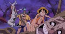 Luffy and Franky Catch Zombies on Thriller Bark