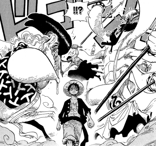 File:Zoro and Sanji Block Dosun and Ikaros Much.png