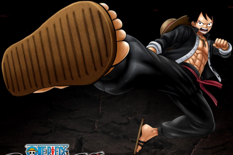 File:One Piece Burning Blood Kung Fu Luffy (Artwork).png
