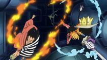 Brook and Kin'emon Defeat Vegapunk's Second Dragon