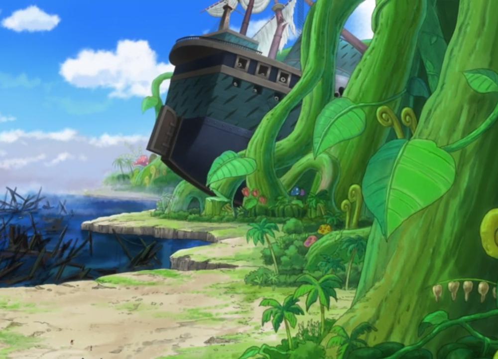 Image - Crashed Marine Ship.png   One Piece Wiki   FANDOM ...