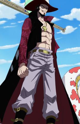 Dracule Mihawk en el anime
