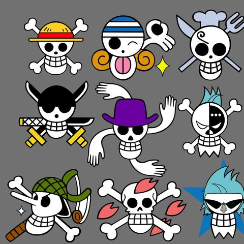 File:Straw Hat Pirates Pre-Timeskip Jolly Rogers.jpg