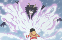 Luffy Grabbing Hold of a Logia User