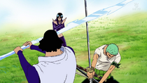 Zoro Saves Robin from Aokiji