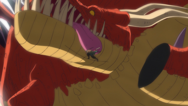 File:Zoro Decapitates the Punk Hazard Dragon in the Anime.png