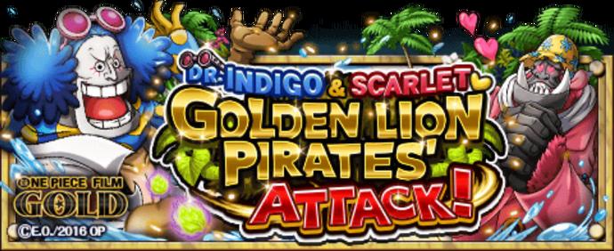 Golden Lion Pirates' Attack! Banner