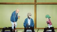 Saitama taunting Tatsumaki