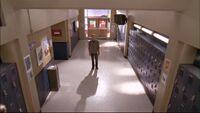 411 l stands in corridor