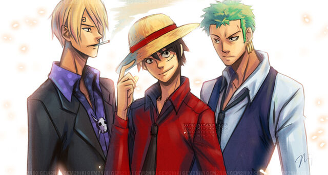 File:One Piece Monster Trio by gem2niki.jpg