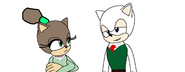 Wallace and Miss Flitt in sonic Style