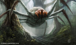 Giant Spiders are predatory, highly intelligent arachnids that frequent dark ...