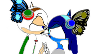 Emily Corpse Bride and Wallace Manget 3 in sonic style