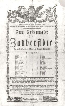 Zauberflöte-Theaterzettel1791