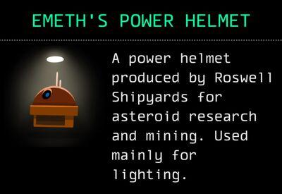 Emeth's Power Helmet