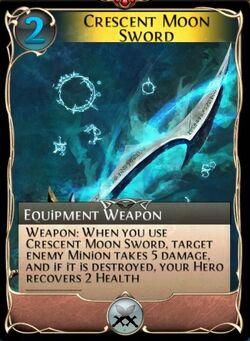 Crescent Moon Sword