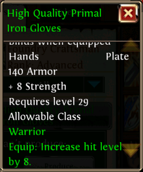 High Quality Primal Iron Glove