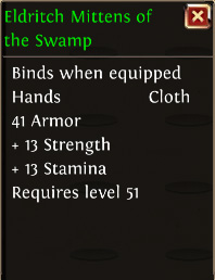 Eldritch mittens of the swamp