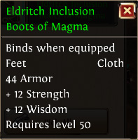 Eldritch inclusion boots of magma