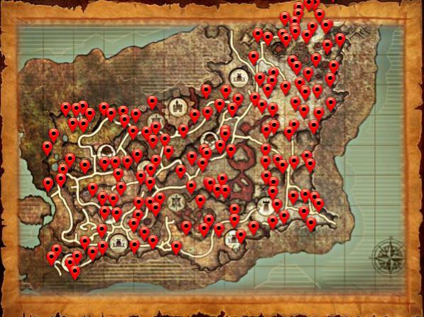 Map ore rift