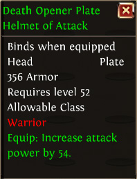 Death opener plate helmet of attack
